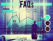 image of faq  - Faqs Feedback Contemplation Data Answers Concept - JPG