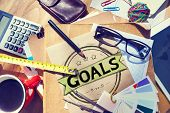picture of encouraging  - Goal Aspiration Expectation Encourage Dreams Concept - JPG
