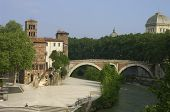 Medieval Castle And Bridge. poster