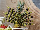 picture of fruits  - Carved fruits arrangement - JPG