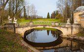 foto of centaur  - Bridge with sculptures of centaurs in Pavlovsk park - JPG