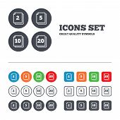 stock photo of packing  - In pack sheets icons - JPG