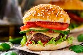 pic of beef-burger  - Beef burger with cheese - JPG