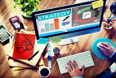 picture of employee month  - Strategy Plan Marketing Data Ideas Innovation Concept - JPG