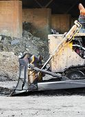 image of bulldozer  - Part of bulldozer track in construction site - JPG