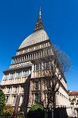 picture of torino  - Mole Antonelliana (1863-1889) in Turin (Torino) Piemonte Italy Symbol of the city. Architect Alessandro Antonelli. ** Note: Soft Focus at 100%, best at smaller sizes - JPG