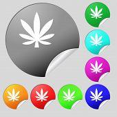 foto of cannabis  - Cannabis leaf icon sign - JPG