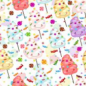 picture of candy cotton  - Baby gift seamless background of cotton candy candy and colorful balloons - JPG