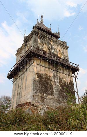 Nanmyint watch tower in Inwa, Mandalay, Myanmar