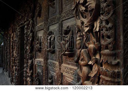 Shwenandaw Kyaung Temple in Mandalay, Myanmar