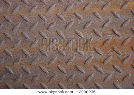 Rusty Deck Plate Background 1