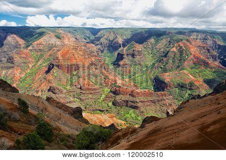 Waimea Canyon At Kaki Island Hawaii