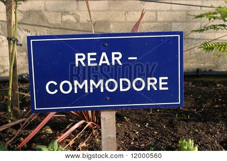 Sign, Rear-Commodore