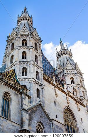 Towers view of St. Stephen's Cathedral in Vienna