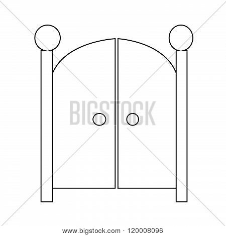 an images of Front Gate Icon Illustration design