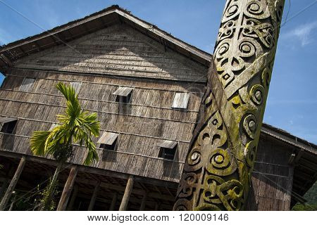 Long house in Sarawak