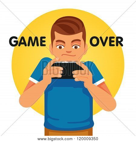 Young gamer unhappy about game over