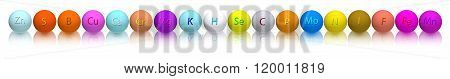 Image Of Stylized Balls With Vitamins On A White Background