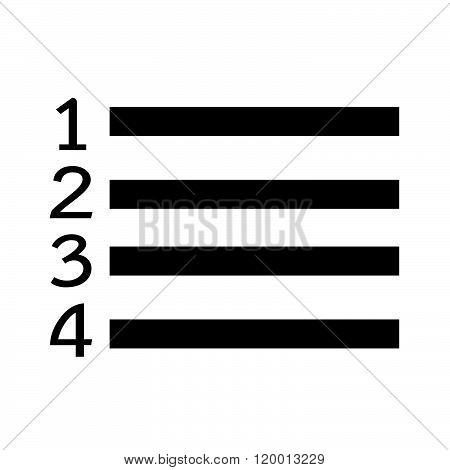 an images of Numbered List icon Illustration symbol design