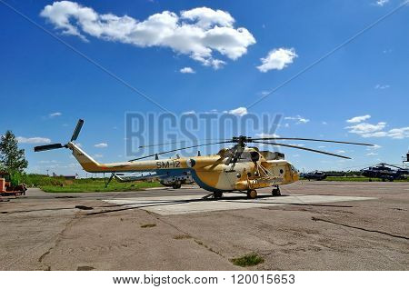 The Mil Mi-171Sh  Helicopter Of Algerian Air Force In Pulkovo Airport In Saint-petersburg, Russia