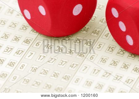 Lottery Ticket And Dices