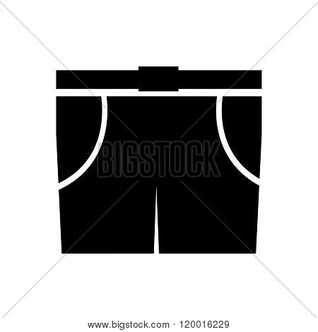 Men Bermuda shorts icon Illustration sign design