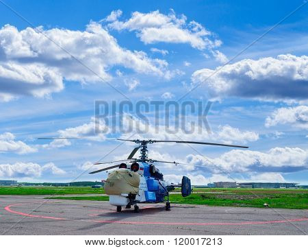 The Kamov Ka-32 S Helicopter Of Avialift Vladivostok Aviation Company In Pulkovo Airport In Saint-pe