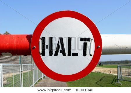 Halt Sign, Military Restricted Area