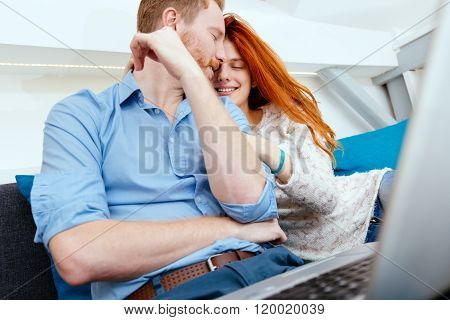 Couple Suring On Internet