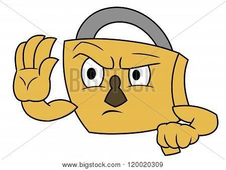 Secure padlock stop gesture