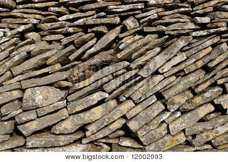 Nahaufnahme der trocken Steinwand, geeignet als Hintergrund