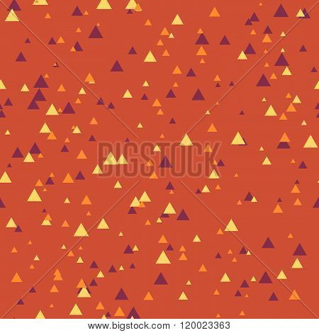 Seamless Abstract Geometry Pattern With Triangles In Simple Colors