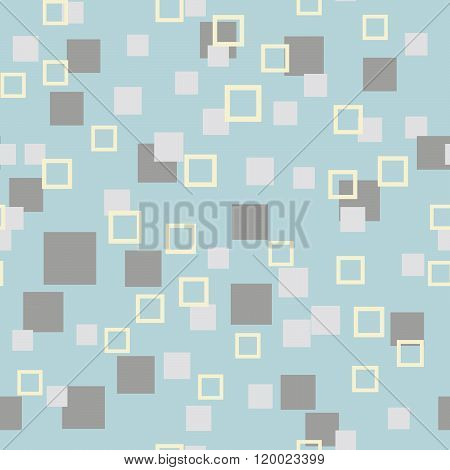 Seamless Abstract Geometry Pattern With Squares In Simple Colors