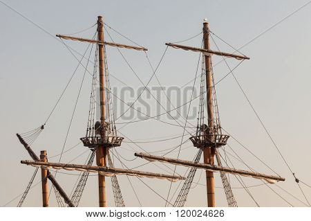 Masts Of A Pirate Ship