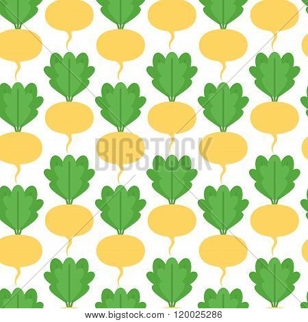 Seamless pattern with turnips