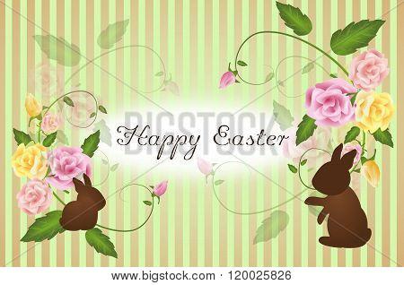Happy Easter Vintage Greeting Card