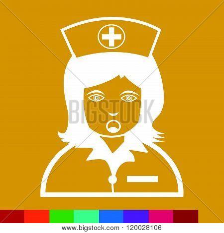 Nurse Face emotion Icon Illustration sign design
