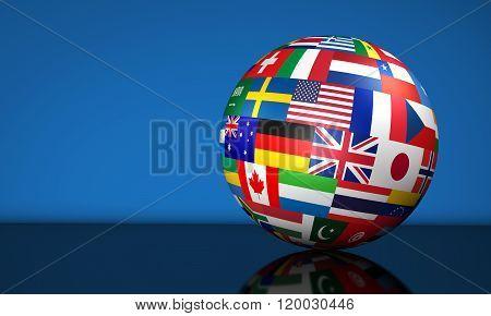Business International Globe Flags