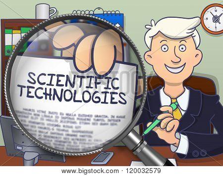 Scientific Technologies through Lens. Doodle Style.
