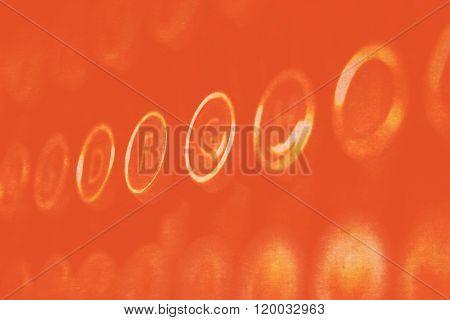 Orange Glowing Typewriter Keys