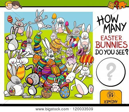 Counting Task With Easter Bunny