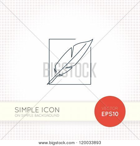 Extra thin line design vector universal pen icon. Elements for user interface.
