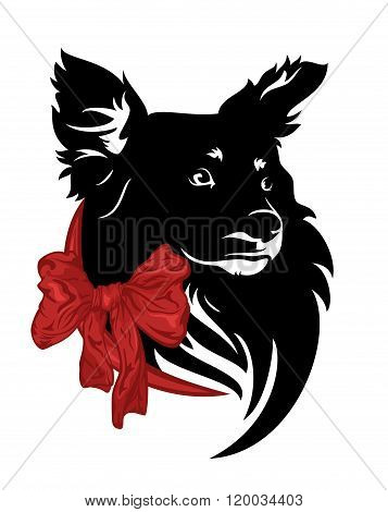 Cute Dog With Bow