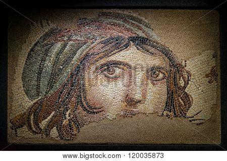 Gypsy Girl Byzantine Mosaic
