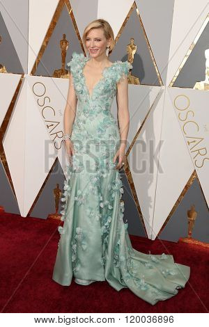 LOS ANGELES - FEB 28:  Cate Blanchett at the 88th Annual Academy Awards - Arrivals at the Dolby Theater on February 28, 2016 in Los Angeles, CA