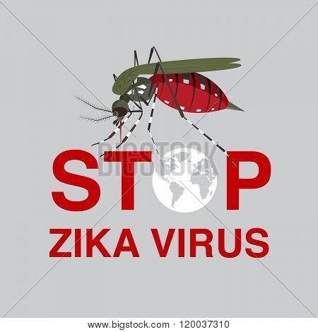 Stop Mosquito , Flat Icon Design,logo