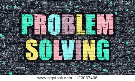 Problem Solving in Multicolor. Doodle Design.