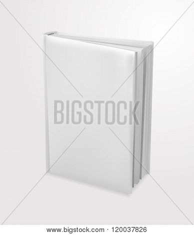 Book template standing, perspective view