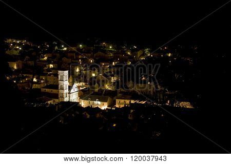 Croatia Hvar at night