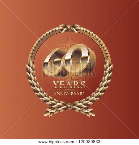 Sixty years anniversary celebration vector design